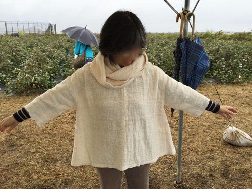手紬の洋服