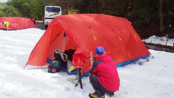 冬山キャンプ